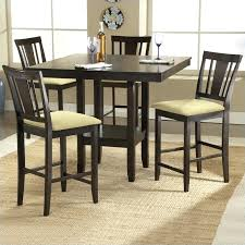 square table and chairs square counter height casual dining table in espresso finish lipper childrens square