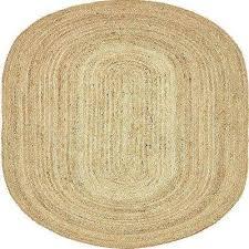 braided jute dhaka natural 8 0 x 10 0 oval rug