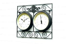 full size of large white wall clocks uk wooden whitewashed amazing outdoor clock and thermometer set