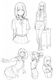 School Anime Drawing Anime School Uniform Drawing At Getdrawings