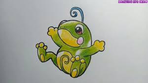 Cách Vẽ Pokemon Ếch Politoed cực đơn giản với Chì Màu