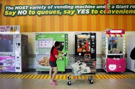 Vending Machine Franchise Singapore Best Diverse Cluster Of Vending Machines At Giant Singapore News Top