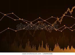 Illustration Orange Business Chart Growth Fall Stock Vector