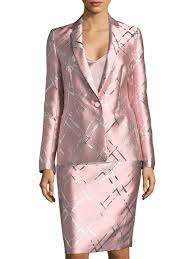 escada metallic jacquard jacket pink women s jackets vests blazers