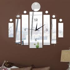 zapals funlife diy 3d mirror clock wall art stickers decor for living room zapals  on diy 3d mirror wall art with zapals funlife diy 3d mirror clock wall art stickers decor for