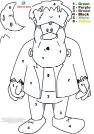 Small Picture Printable Halloween Coloring Pages Colornumber for Free