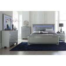 modern furniture living room. Modern Glamour Style Bedroom With LED Light Allura Collection Furniture Living Room
