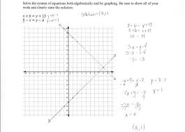 inspiring solving a system of equations 2 students are asked to solve systems linear by graphing