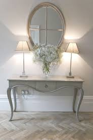 E Might You Want A Table In The Hallway Or Would Rather Keep It Clear Hall  Console With Mirror And Pair Of Lamps If Like This