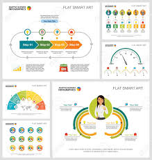 Chart Poster Design Colorful Promotion Or Training Concept Infographic Charts Set