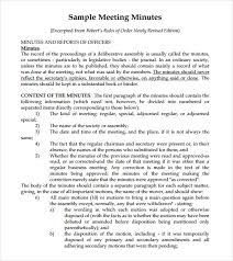 Sample Meeting Notes Sample Meeting Summary Template 7 Documents In Pdf