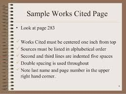 How Do You Do A Works Cited Page How To Write A Works Cited
