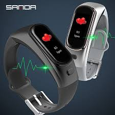 <b>SANDA</b> Brand <b>New</b> H109 Bluetooth <b>Smart</b> Bracelet Blood Pressure ...