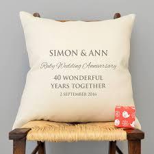 personalised ruby wedding anniversary cushion