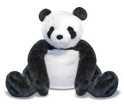 amazoncom melissa  doug giant panda bear  lifelike stuffed