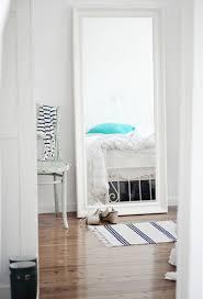 White Long Bedroom Mirror