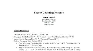 coaching resume example college soccer resume assistant soccer coach resume example college