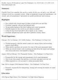 Film Production Resume Template | Dadaji.us