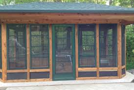 get more seasons out of your porch screen room or gazebo with these vertical sliding windows with patented memory vinyl glazing