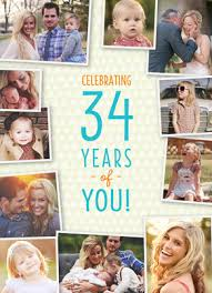 Birthday Photo Collage Greeting Card Age Specific Birthday Card