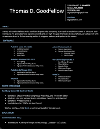 Vfx Resume Samples Resume Format Fresher New Vfx Resume Resume Jgmail Vfx Positor 11