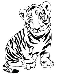 Tiger Coloring Pages To Print Tigers Coloring Pages Free Printable