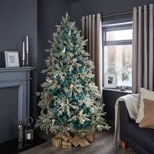 ... Easy Christmas Tree B Q Strikingly 6ft 6In Winterfold Mint Green Pre  Decorated ...