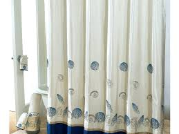 image of gray shower curtain with ruffles