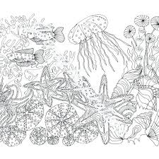 Sea Life Coloring Ocean Coloring Pages For Adults Adult Coloring