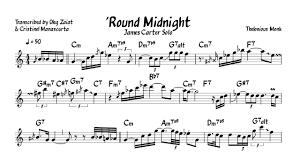 Round Midnight Chart James Carter Round Midnight Eb Transcription