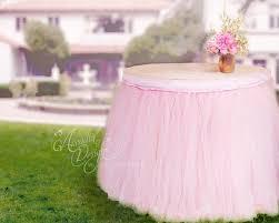 round table pink tutu skirt custom made tulle tableskirt for image 0
