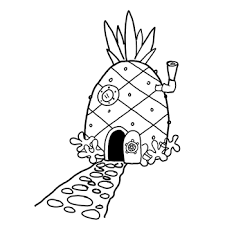 pineapple drawing. how to draw spongebob squarepants\u0027 pineapple house with drawing directions