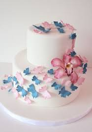Bridal Shower Cake Nj Butterflies And Orchid Custom Cakes Sweet