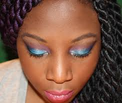 makeup tutorial for black women with dark skin shany cosmetics blue eye shadow look you