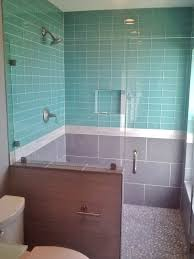 unusual aqua glass tub surround contemporary the best bathroom