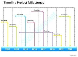 Project Milestone Template Road Ppt Management Consultant Business