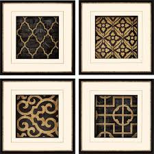 geometric frames set of 4 ebony