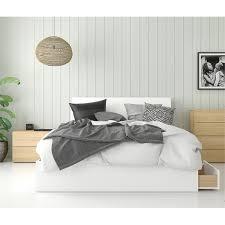 Aruba 3 Piece Queen Size Bedroom Set Natural Maple & White