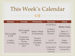 what do you need  composition notebook  act three questions  4  this week s calendar mondaytuesdaywednesdaythursdayfriday the crucible act iii conflict tracking the crucible act iii vocabulary conflict and theme