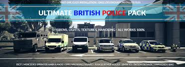 Police Lights And Siren Ultimate Ultimate British Police Pack Gta5 Mods Com