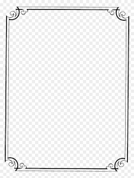 Assignment Front Page Border Designs Page Border Design In Black And White Png Download Page