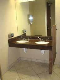 wheelchair accessible bathrooms in commercial bathroom modifications vanity cabinets remodel restroom sinks kohler sink faucets compliance