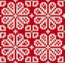 Christmas Pattern Simple Knitted Fabric Christmas Pattern Vector Set Free Vector In