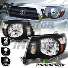 2005-2011 Toyota Tacoma [TRD Style] Black Headlights 2006 2007 ...