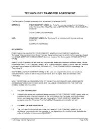 Share Transfer Agreement Template Technology Transfer Agreement