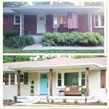 painted brick ranch before and after free plain amazing brick house exterior makeover home exterior makeover painted brick