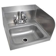 16 x 17 side splash wall mounted gooseneck faucet nsf hand sink