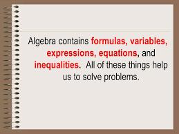 2 algebra notes