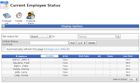 Employee Status Timeips Time Clock Attendance And Payroll Solution