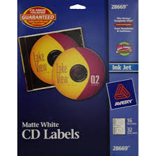 Avery Cd Labels Avery R Matte White Cd Labels For Inkjet Printers 28669 16 Disc Labels And 32 Spine Labels